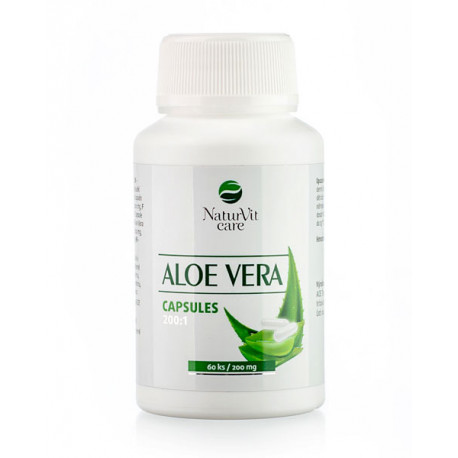 NaturVit care kapsle Aloe vera 200:1 (200 mg) - 60 ks